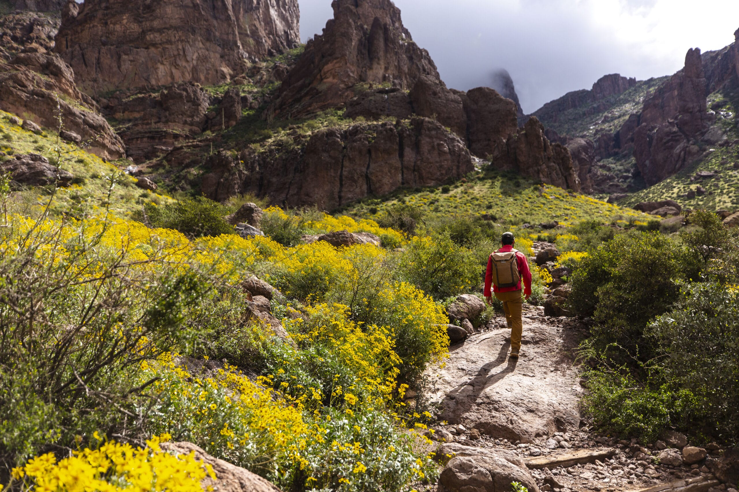 nick tort hiking in the superstition mountains in arizona