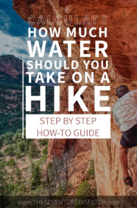HOW TO STAY hydrated when hiking pin for pinterest