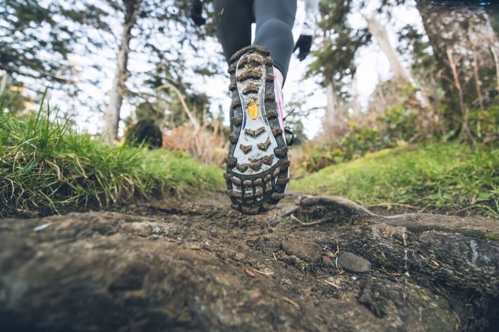Trail Running 101 - The Basics. Example of a trail running shoe